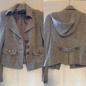 Nanette Lepore blazer with detachable hood
